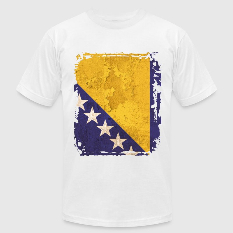 Bosnia and Herzegovina Flag T-shirt - Men's T-Shirt by American Apparel
