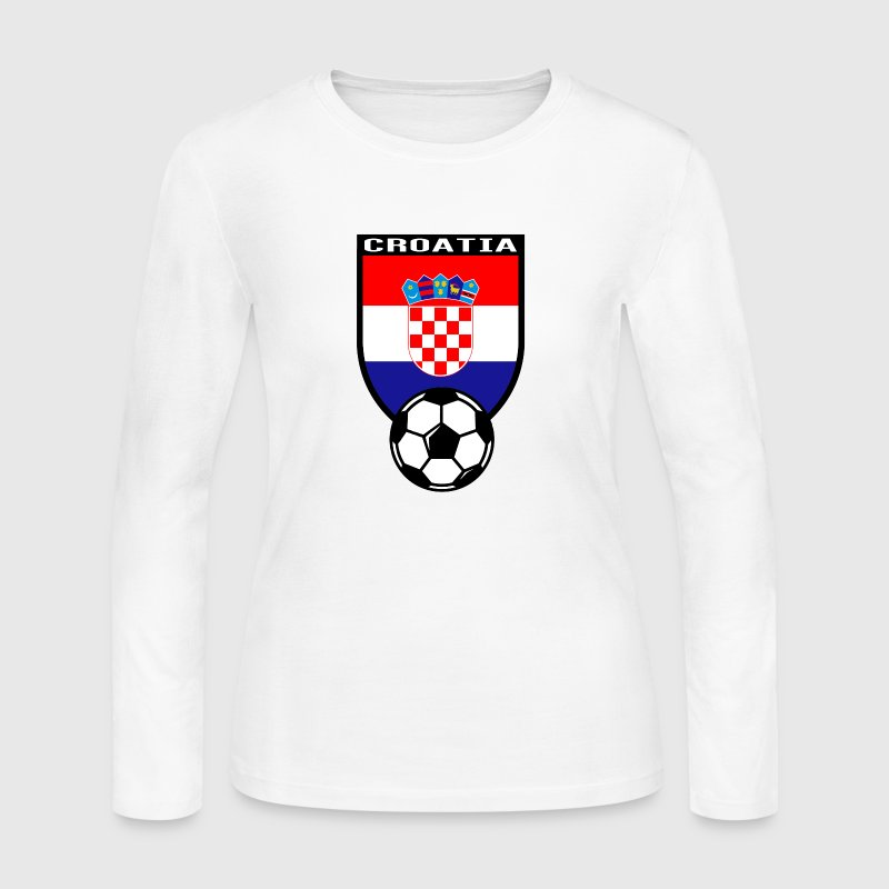 European Football Championship 2016 Croatia Long Sleeve Shirts - Women's Long Sleeve Jersey T-Shirt