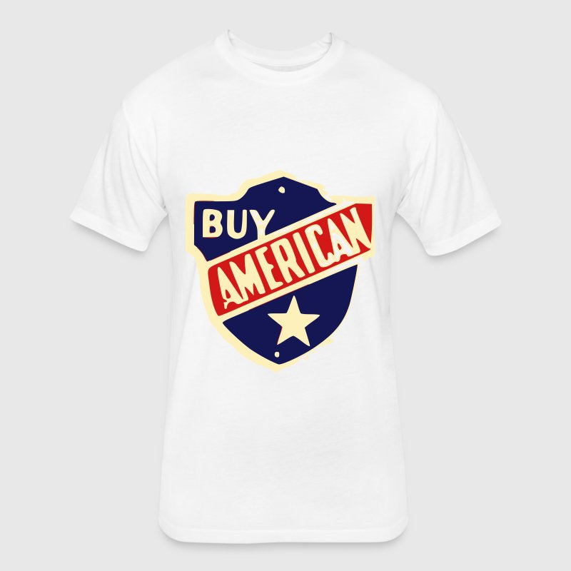 Buy American - Fitted Cotton/Poly T-Shirt by Next Level