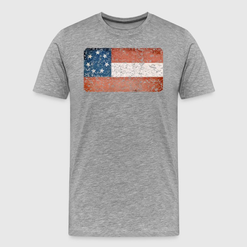 First Confederate Flag, Stars and Bars, Red white - Men's Premium T-Shirt