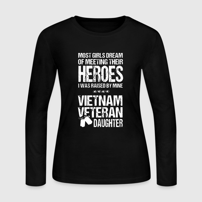 Vietnam Veteran Daughter - Women's Long Sleeve Jersey T-Shirt