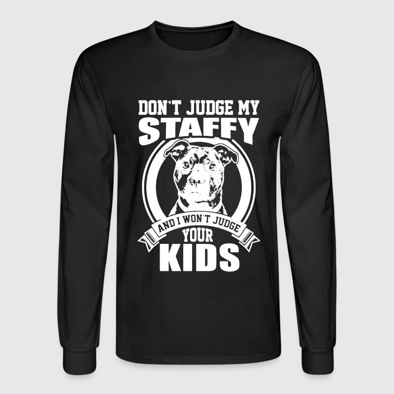 Staffy Mom shirt - Men's Long Sleeve T-Shirt