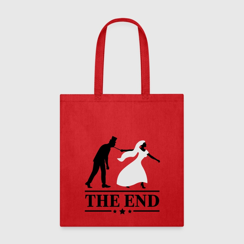 game over bride and groom wedding stag night end Bags & backpacks - Tote Bag