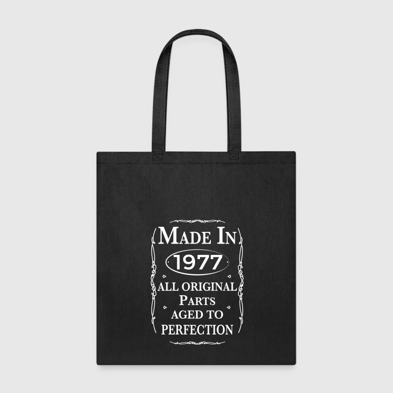 made in 1977 birthday Bags & backpacks - Tote Bag