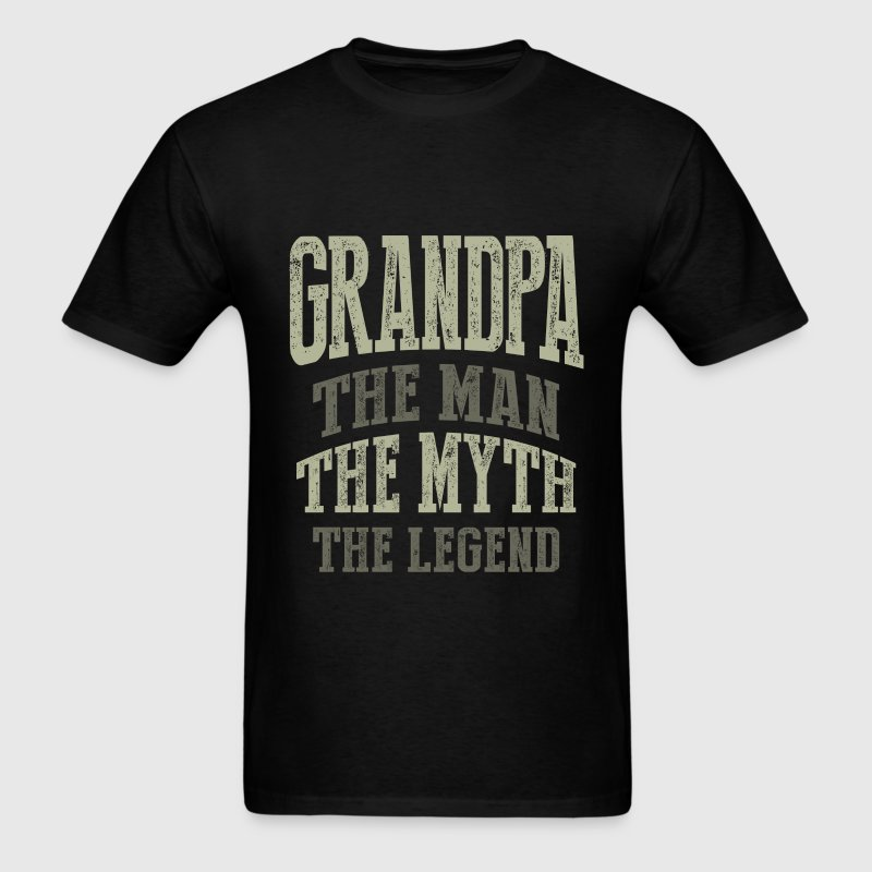 Grandpa. The Man. T-shirt Gift! - Men's T-Shirt
