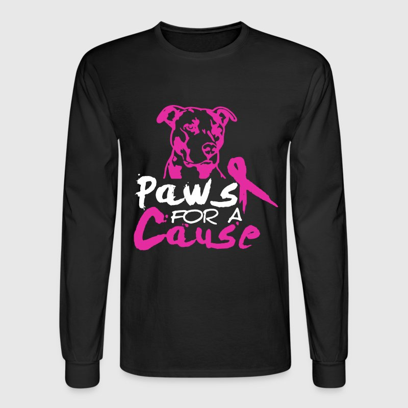 PAWS FOR A CAUSE shirt - Men's Long Sleeve T-Shirt