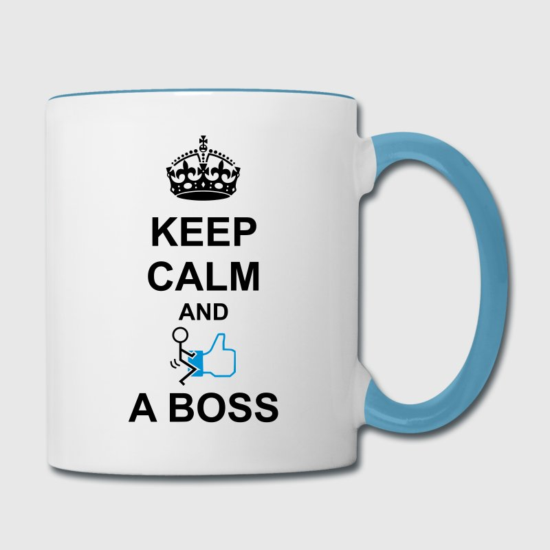 Keep Calm And Fuck Like A Boss Mugs & Drinkware - Contrast Coffee Mug