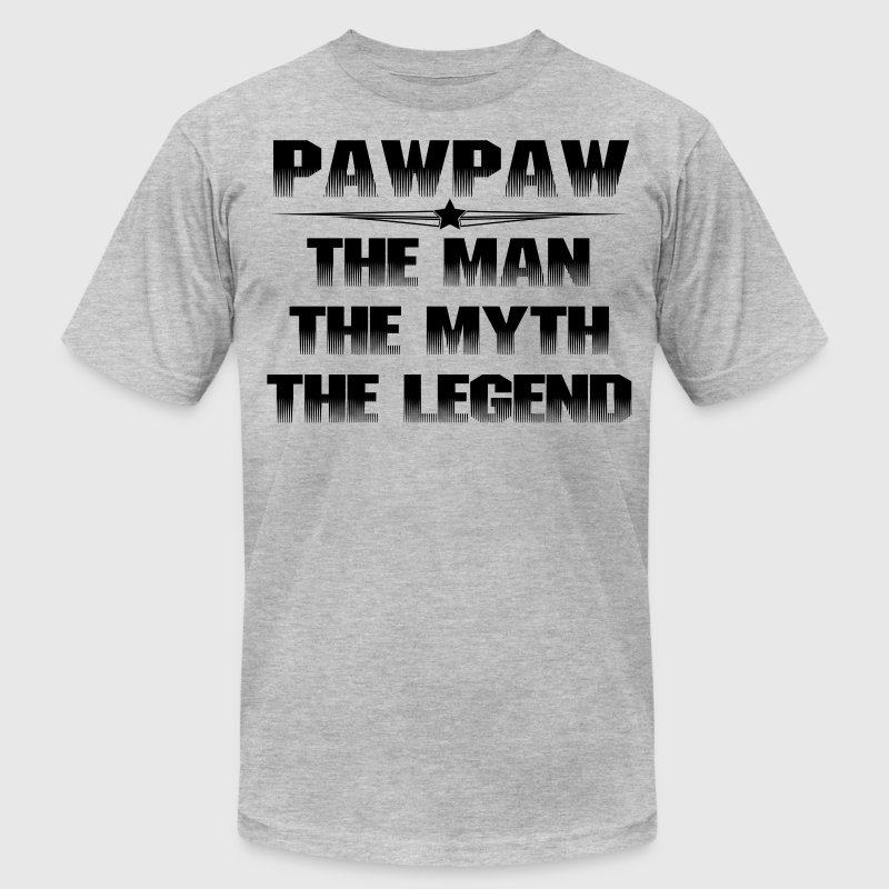 PAWPAW THE MAN THE MYTH THE LEGEND T-Shirts - Men's Fine Jersey T-Shirt