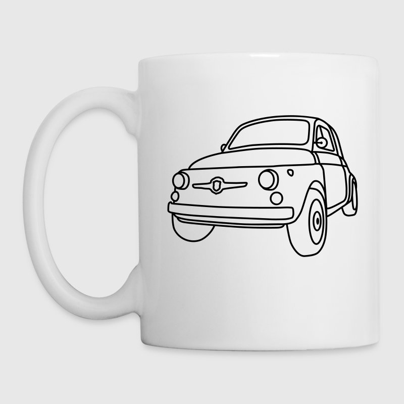 Fiat 500 Classico Mugs & Drinkware - Coffee/Tea Mug