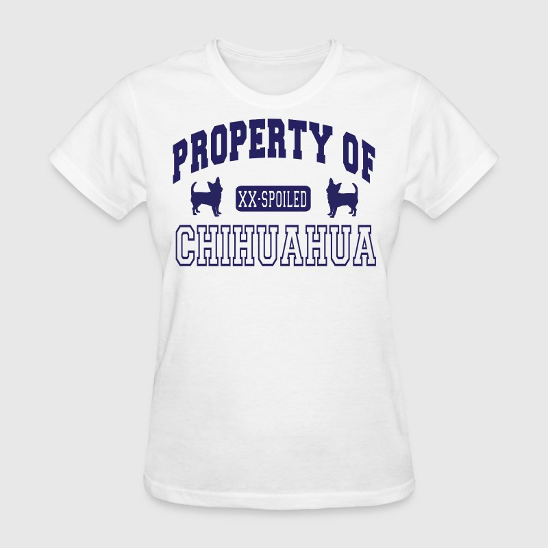 Vintage gym property of chihuahua t shirt spreadshirt for Property of shirt designs