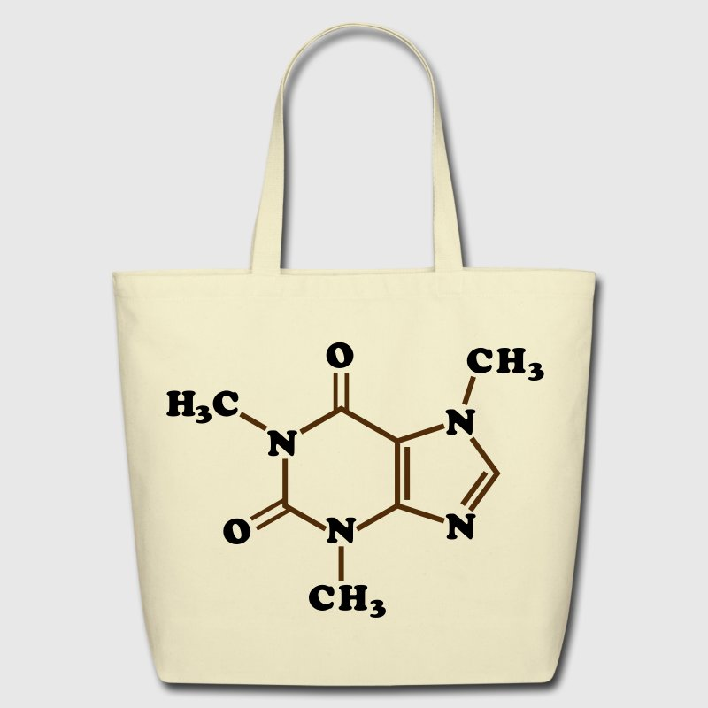 Caffeine Molecular Chemical Formula Bags & backpacks - Eco-Friendly Cotton Tote