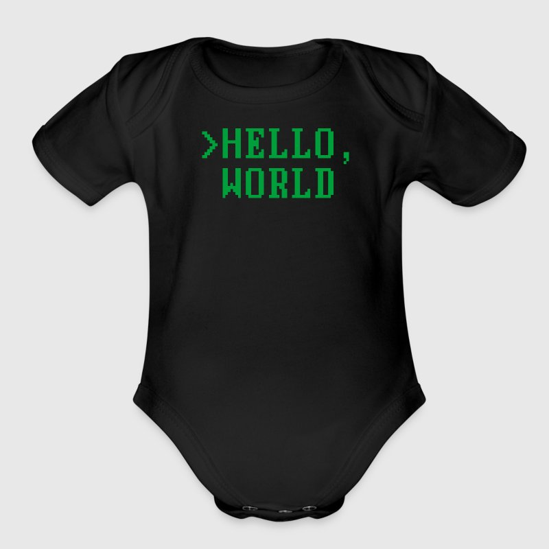 Hello, World Baby Bodysuits - Short Sleeve Baby Bodysuit
