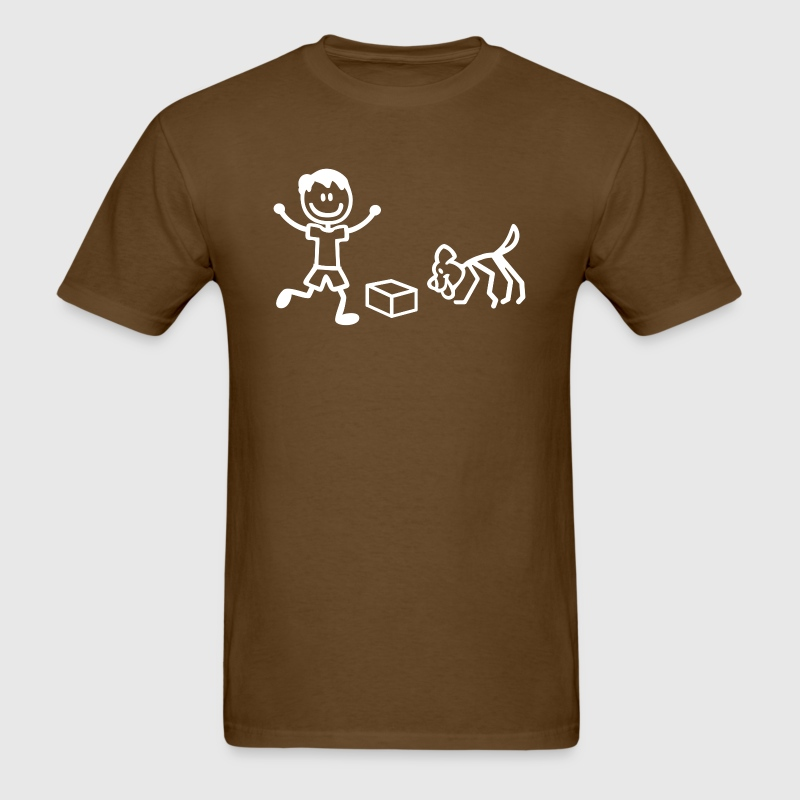 Nosework Dog and Handler in Stick Figures T-Shirts - Men's T-Shirt