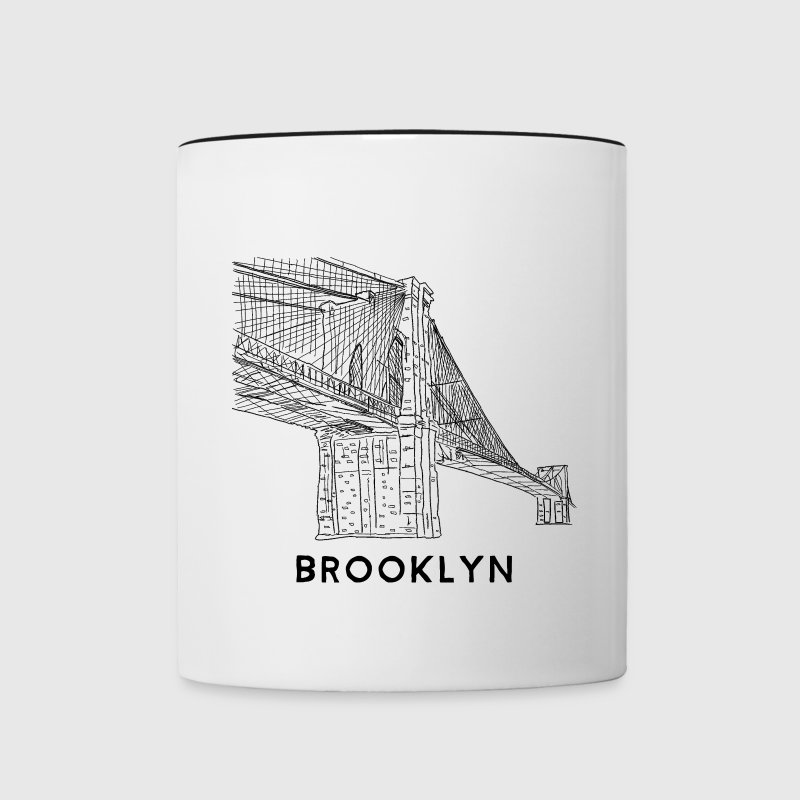 Brooklyn Bridge New York - Contrast Coffee Mug