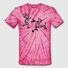 Agility Dog and Handler Stick Figures - Unisex Tie Dye T-Shirt