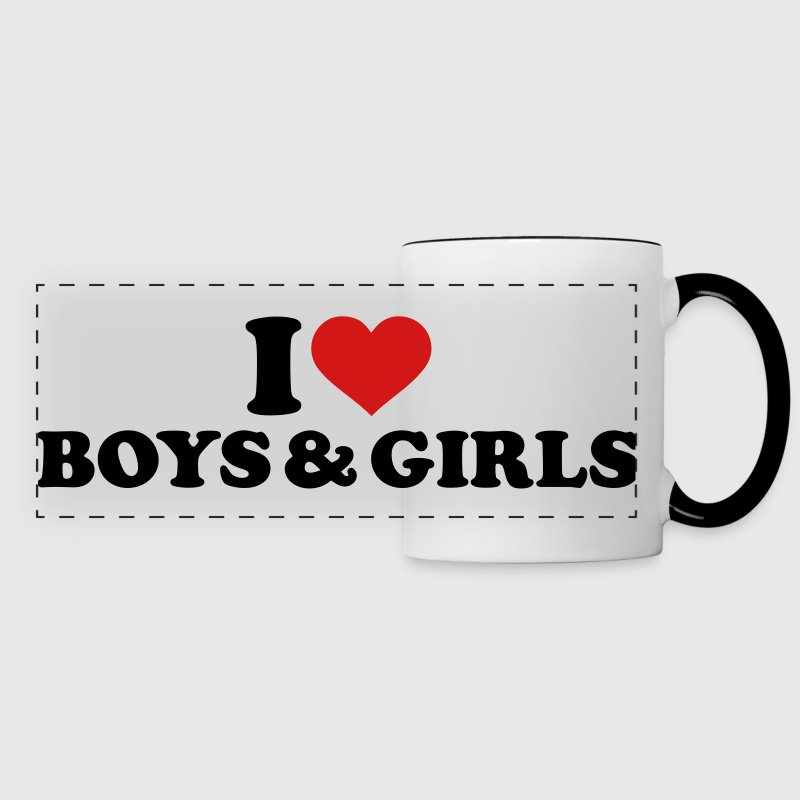 I love boys and girls Mugs & Drinkware - Panoramic Mug