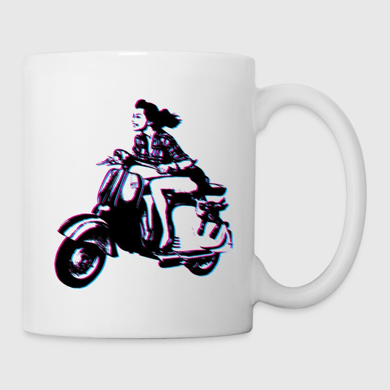 Vespa Scooter Girl Mugs & Drinkware - Coffee/Tea Mug
