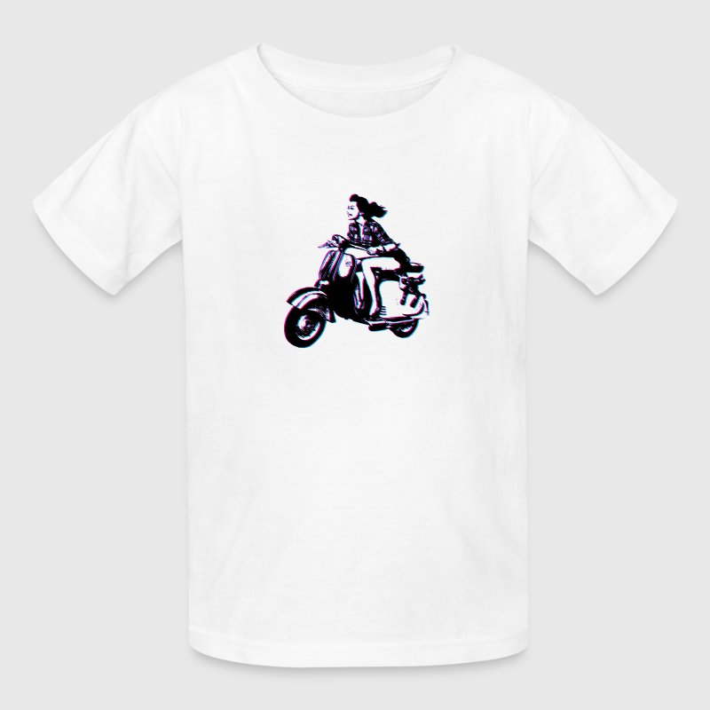 Vespa Scooter Girl Kids' Shirts - Kids' T-Shirt