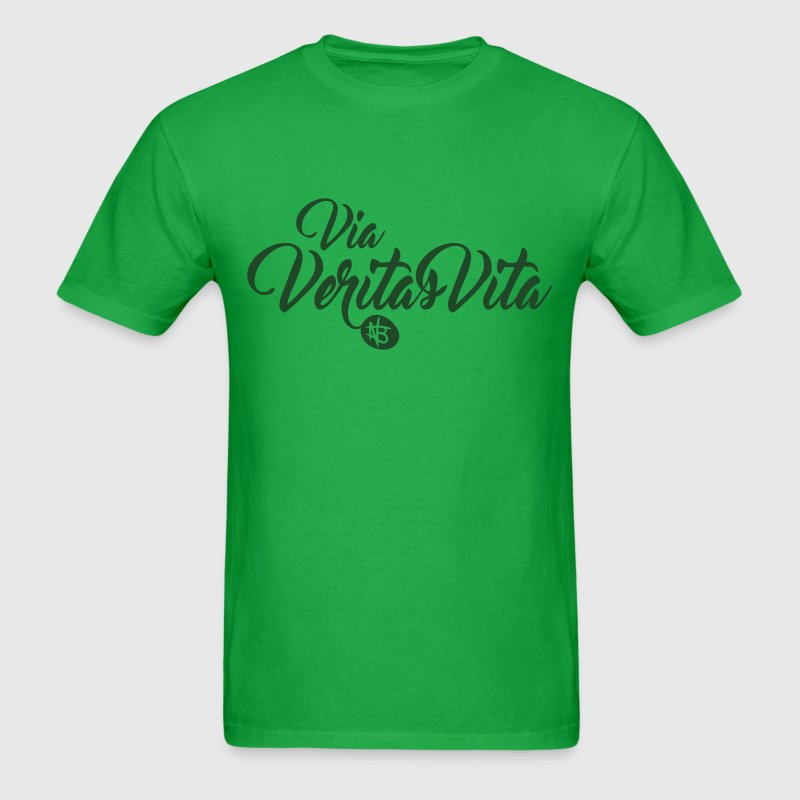 Via Veritas Vita - Northbound Christian Apparel - Men's T-Shirt