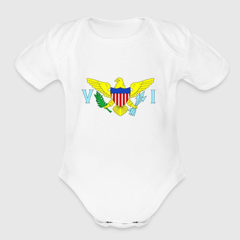 U.S. Virgin Islands - Short Sleeve Baby Bodysuit