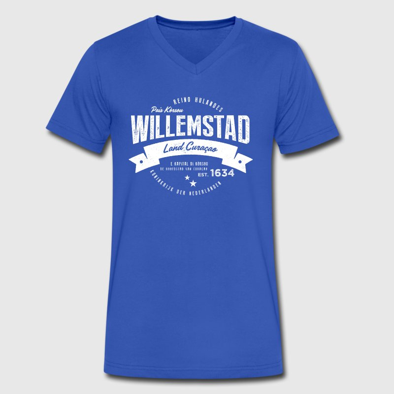 Willemstad, Curaçao T-Shirts - Men's V-Neck T-Shirt by Canvas