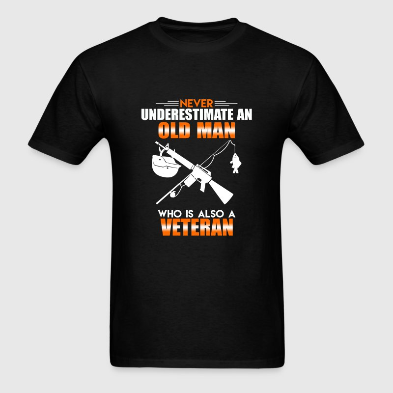 Old Man Veteran - Men's T-Shirt