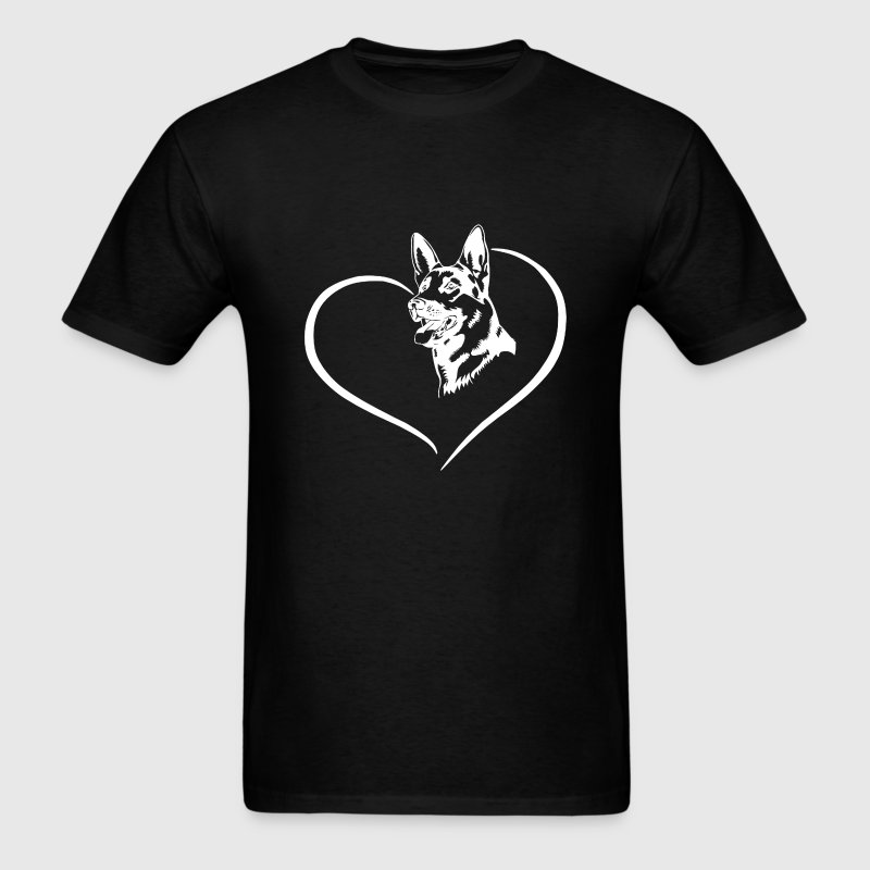 German Shepherd Heart Tee - Men's T-Shirt
