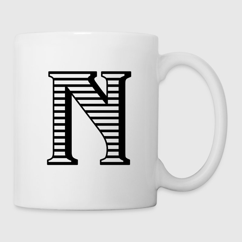 Personalized N Initial Mugs & Drinkware - Coffee/Tea Mug