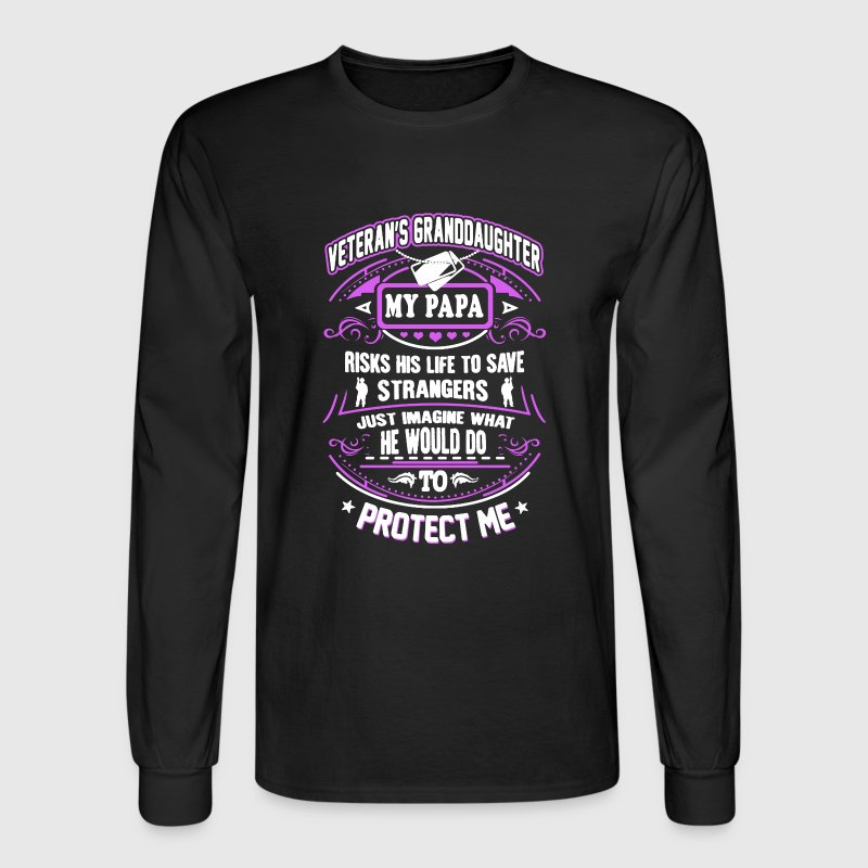 Veteran's Grand Daughter - Men's Long Sleeve T-Shirt