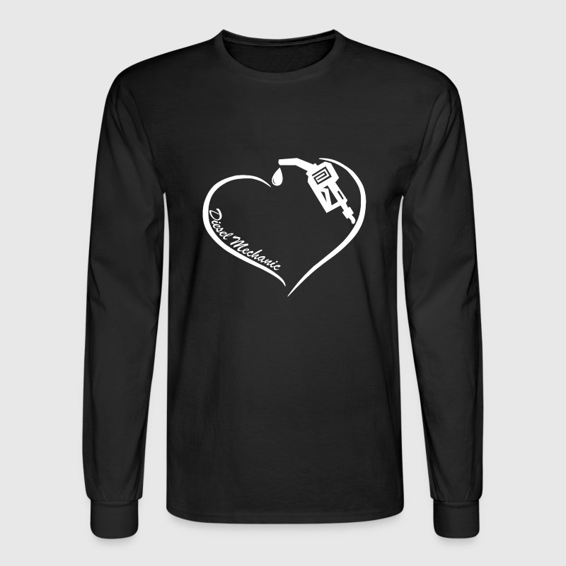 Diesel Mechanic Heart Tee - Men's Long Sleeve T-Shirt