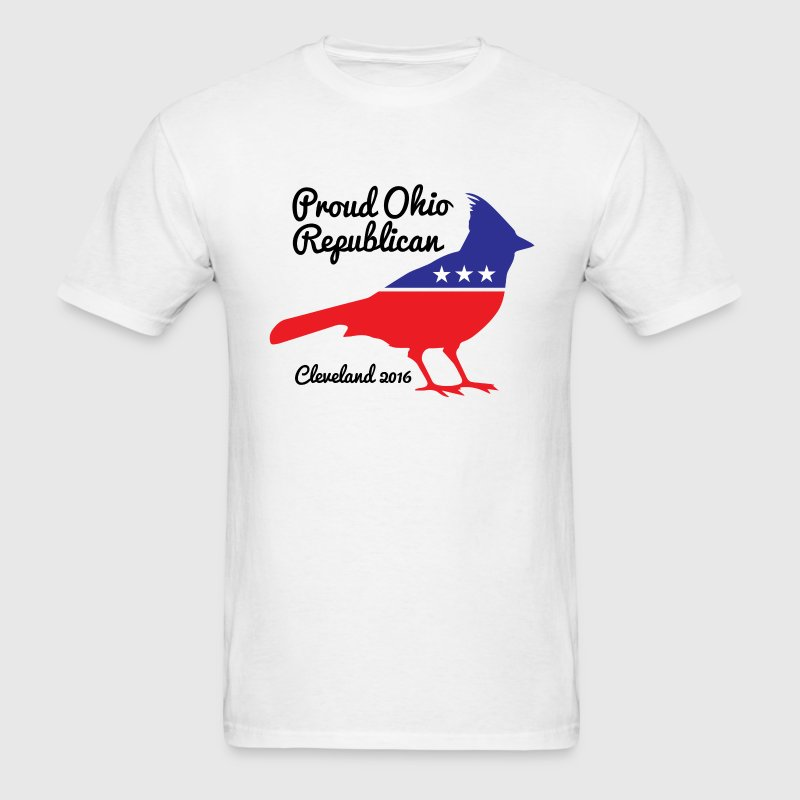 Gop ohio cardinal t shirt spreadshirt for Cardinal color t shirts