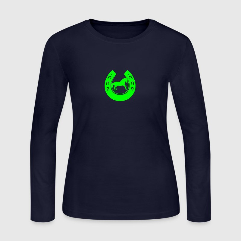 iron horse head logo 2 Long Sleeve Shirts - Women's Long Sleeve Jersey T-Shirt