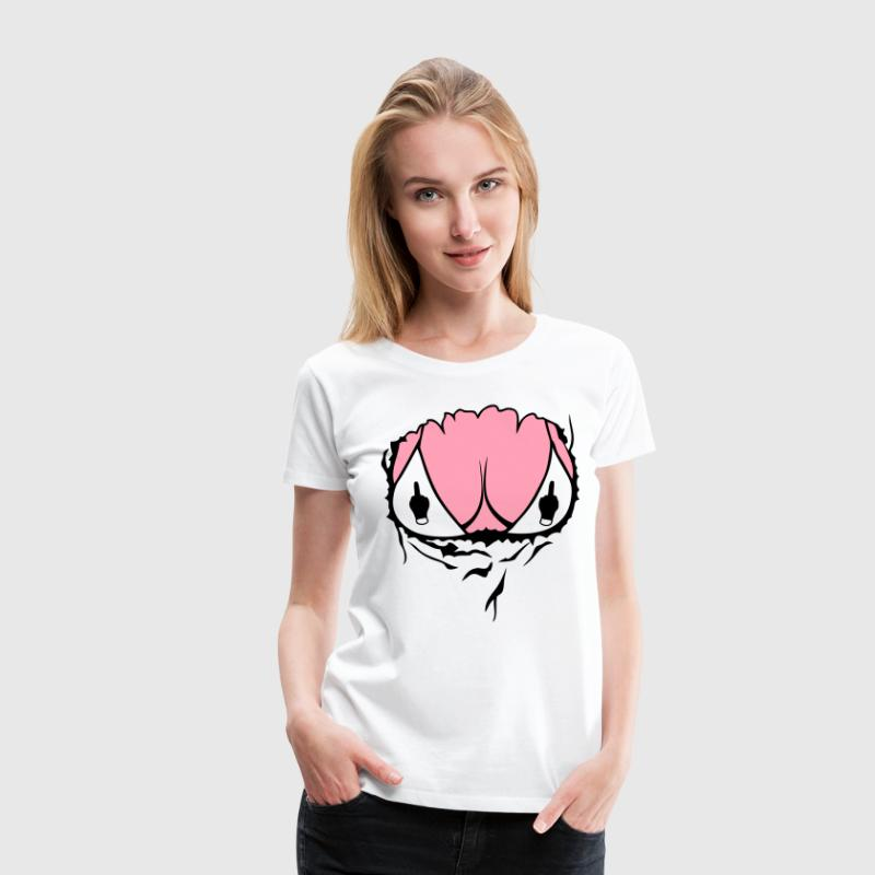 body boob breasts torn chest fuck women Women's T-Shirts - Women's Premium T-Shirt