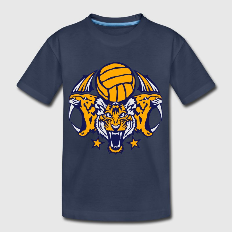 volleyball sports logo tiger 207 ball Kids' Shirts - Kids' Premium T-Shirt