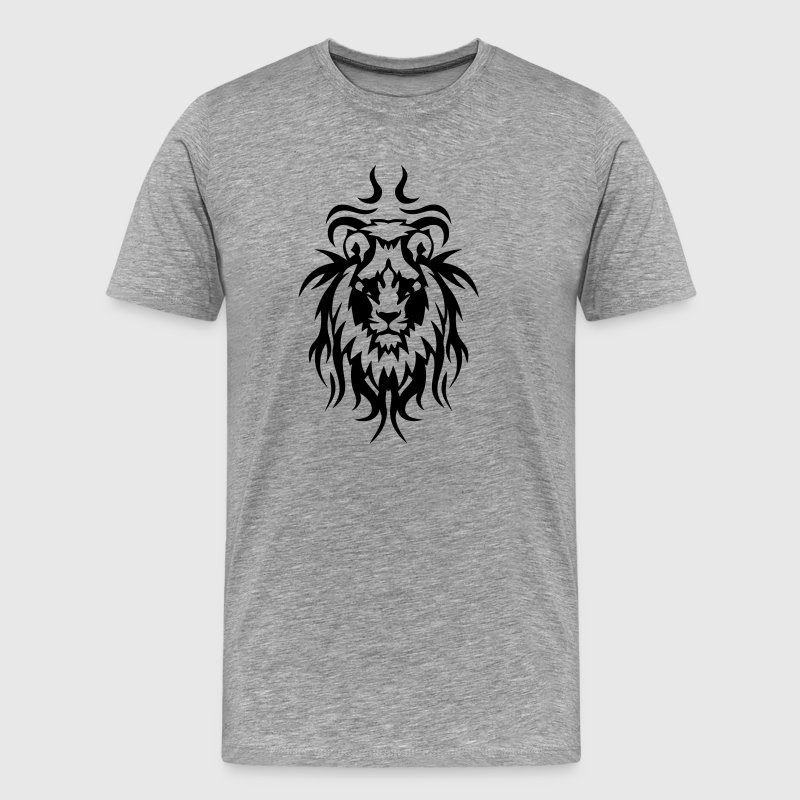 tribal tattoo lion wild animal T-Shirts - Men's Premium T-Shirt