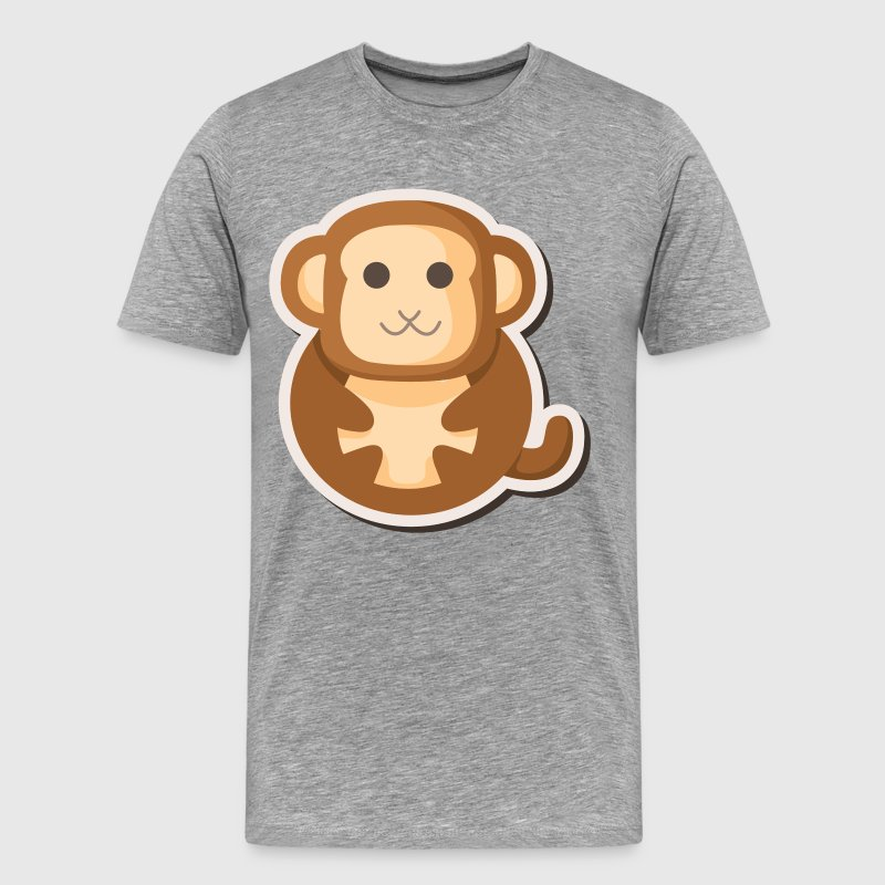 Amusing cartoon monkey design - Men's Premium T-Shirt