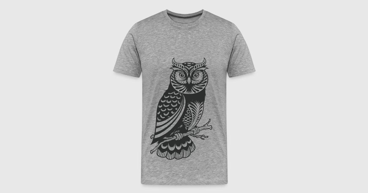 Owl design material t shirt spreadshirt for T shirt design materials