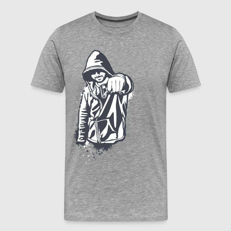 Hoody gangster design T-Shirts - Men's Premium T-Shirt
