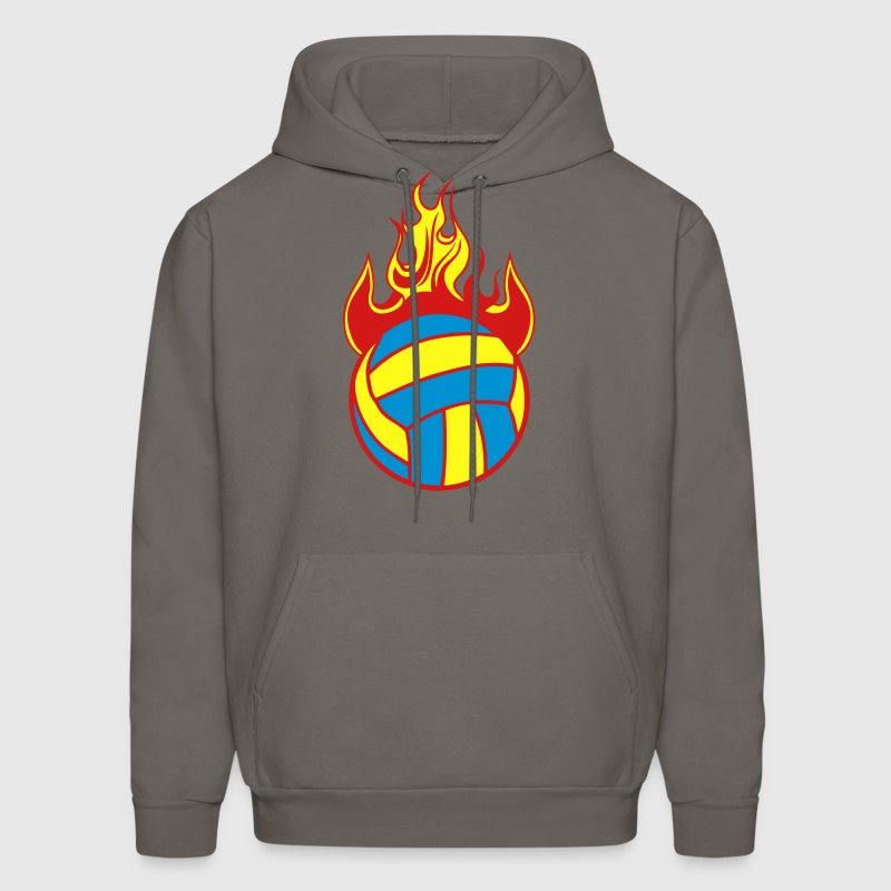 volleyball water polo ball fire flame 11 Hoodies - Men's Hoodie