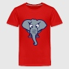 elephant funny animal cartoon face 1010 Kids' Shirts - Kids' Premium T-Shirt