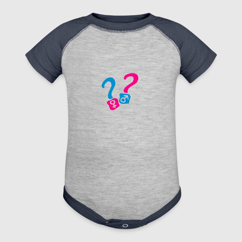 girl boy question mark 1 Baby Bodysuits - Baby Contrast One Piece