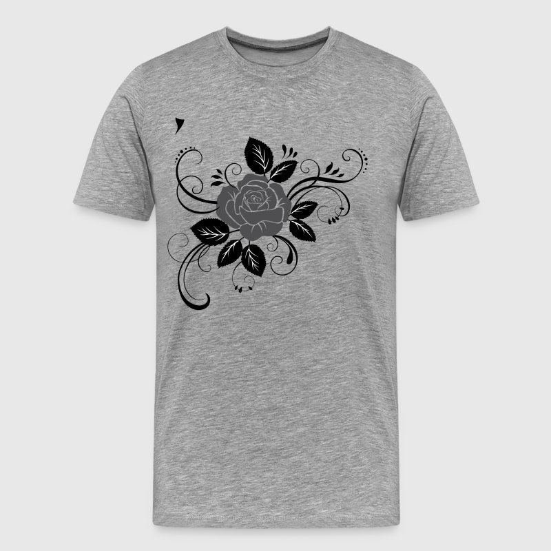 Hand painted flower design - Men's Premium T-Shirt