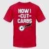 How I Cut Carbs funny pizza shirt - Men's T-Shirt by American Apparel