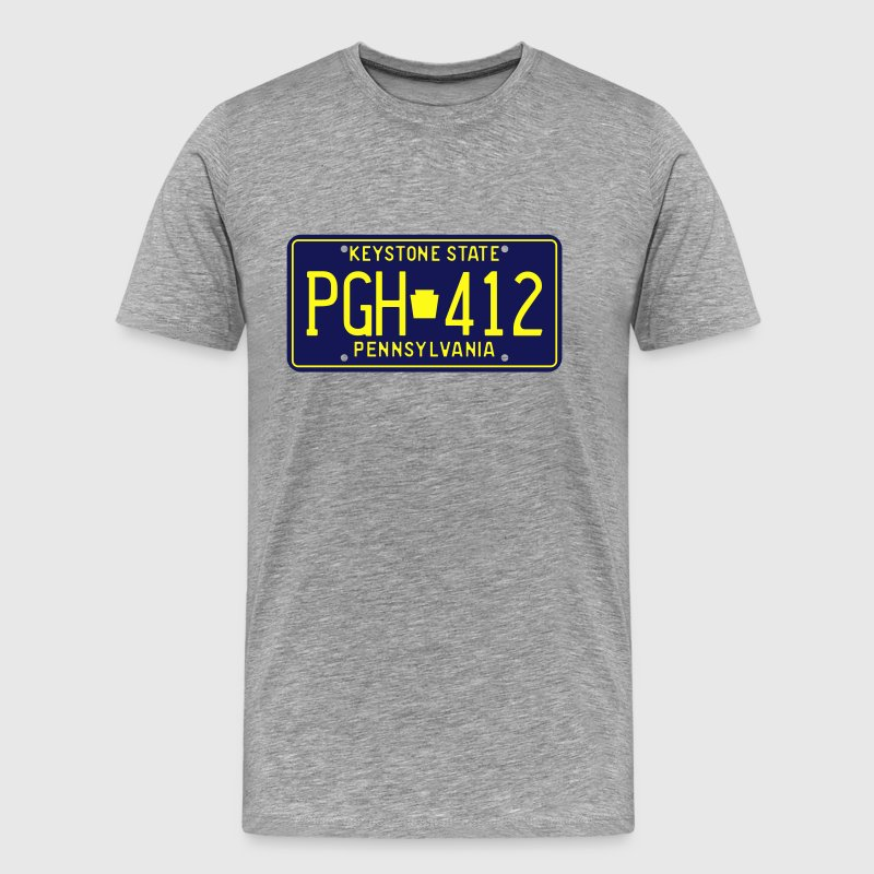 Retro Pennsylvania PGH-412 license plate T-Shirt - Men's Premium T-Shirt