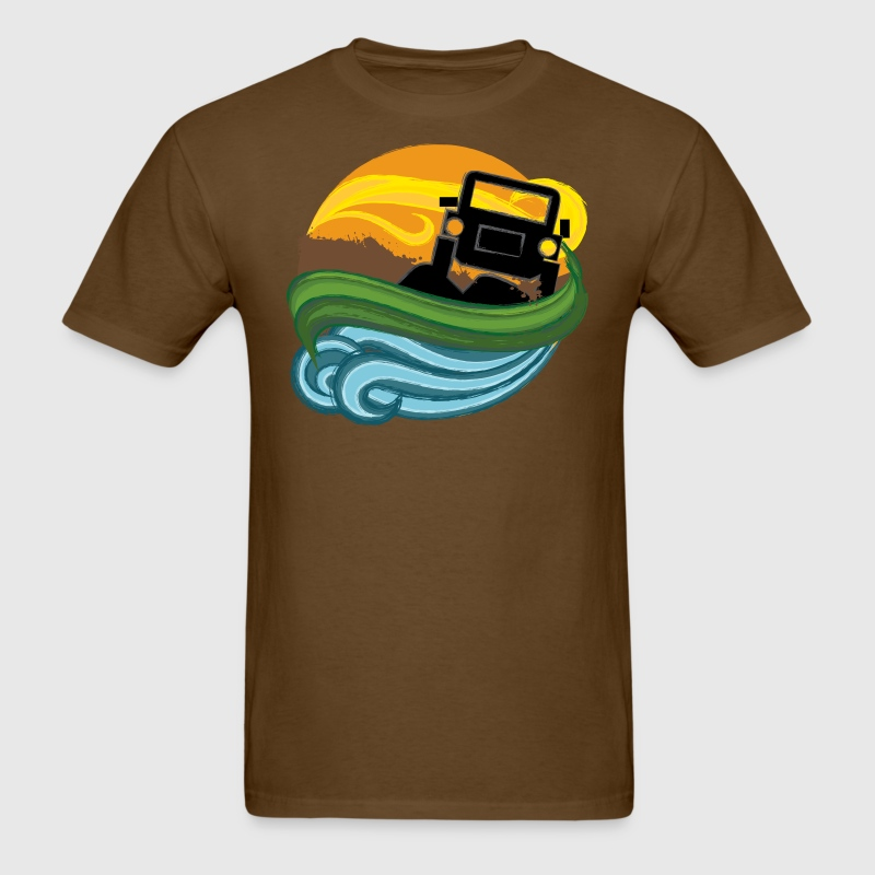 jeep adventure - Men's T-Shirt