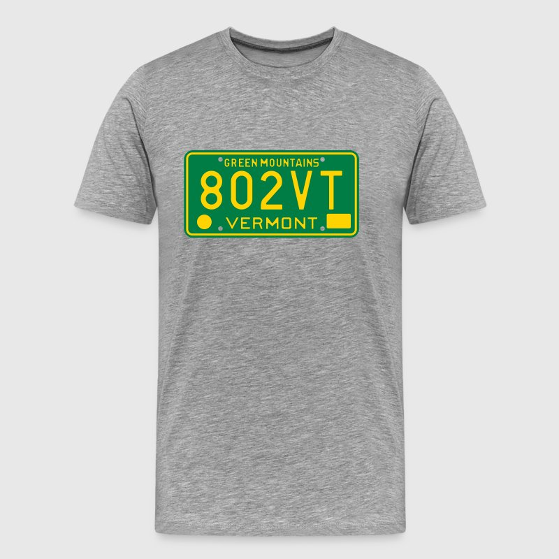 Retro Vermont License Plate 802VT T-Shirts - Men's Premium T-Shirt