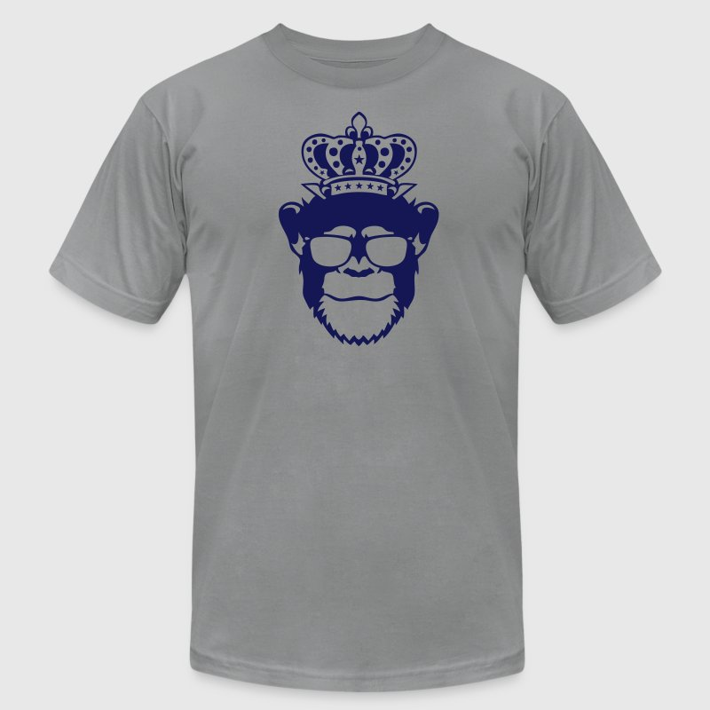 monkey king crown logo front head 910 T-Shirts - Men's T-Shirt by American Apparel