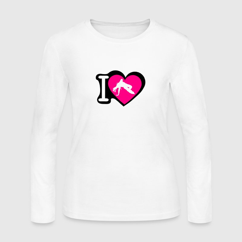 capoeira love heart 13 Long Sleeve Shirts - Women's Long Sleeve Jersey T-Shirt