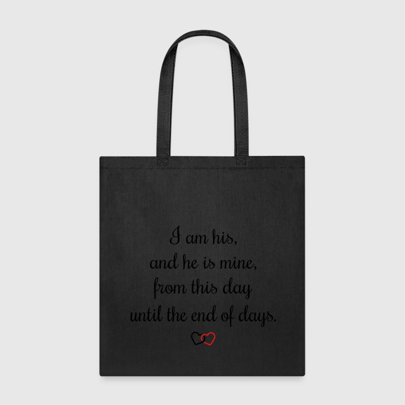 Romantic oath I am his Bags & backpacks - Tote Bag
