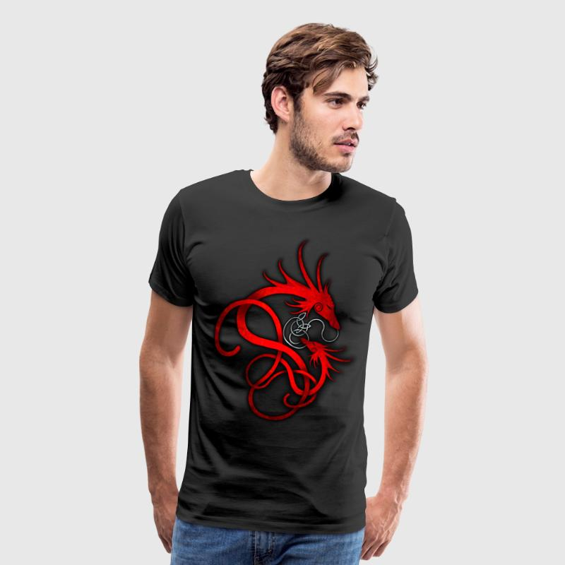 Red Norse Dragon - Men's Premium T-Shirt